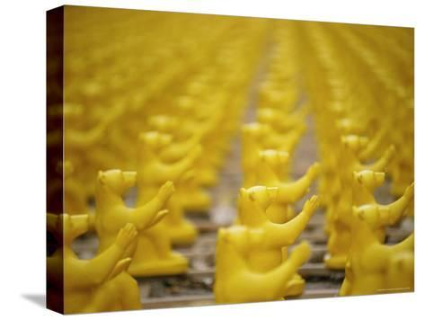 Yellow Plastic Bears at a Public Art Display-Jason Edwards-Stretched Canvas Print