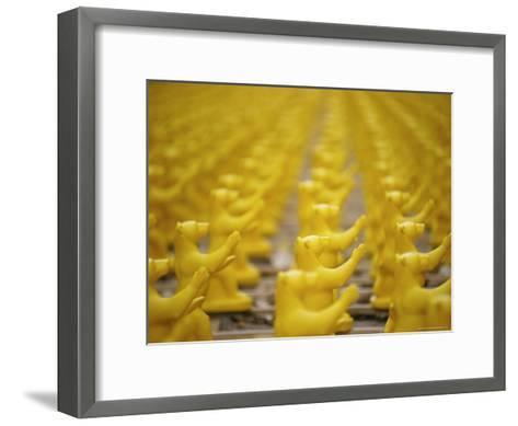 Yellow Plastic Bears at a Public Art Display-Jason Edwards-Framed Art Print
