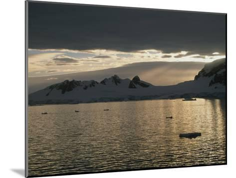 Sunrise over Neumeyer Channel with Wiencke Island in the Background-Gordon Wiltsie-Mounted Photographic Print
