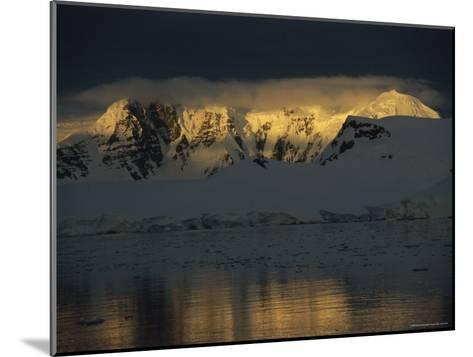 Sunrise over Neumeyer Channel with Anvers Island in the Background-Gordon Wiltsie-Mounted Photographic Print