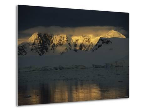 Sunrise over Neumeyer Channel with Anvers Island in the Background-Gordon Wiltsie-Metal Print