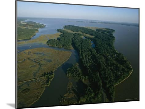Aerial View of the James River-Ira Block-Mounted Photographic Print