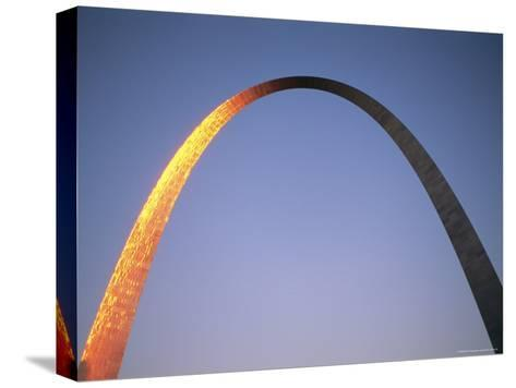 Sunlight Beams on the Gateway Arch in Saint Louis-Joel Sartore-Stretched Canvas Print