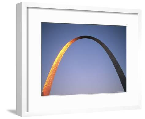 Sunlight Beams on the Gateway Arch in Saint Louis-Joel Sartore-Framed Art Print