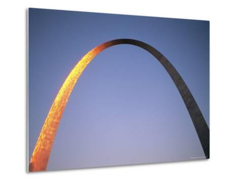 Sunlight Beams on the Gateway Arch in Saint Louis-Joel Sartore-Metal Print