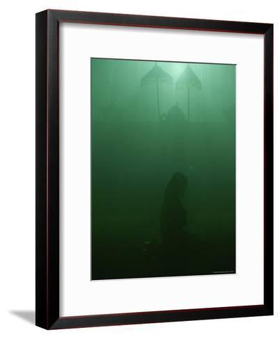 A Woman Praying in a Temple-Peter Carsten-Framed Art Print