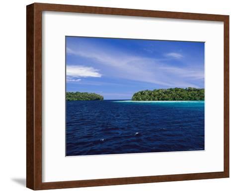 Calm Blue Waters Between Two Tropical Islands-Wolcott Henry-Framed Art Print