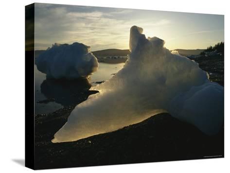 Icebergs Near Shore on Kamchatkas Coast-Klaus Nigge-Stretched Canvas Print