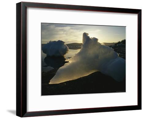 Icebergs Near Shore on Kamchatkas Coast-Klaus Nigge-Framed Art Print