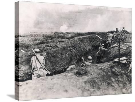 Action on the Western Front Photographed from German Trenches--Stretched Canvas Print
