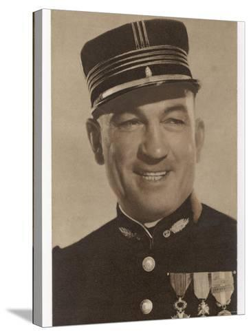 Victor Mclaglen British Actor in British Silent Films and American Talkies Seen Here in Uniform--Stretched Canvas Print