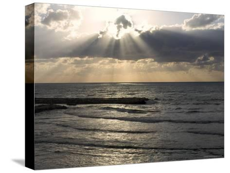Sunset View Over Mediterranean, Tel Aviv, Israel--Stretched Canvas Print