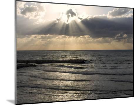 Sunset View Over Mediterranean, Tel Aviv, Israel--Mounted Photographic Print