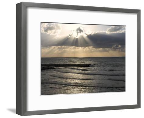 Sunset View Over Mediterranean, Tel Aviv, Israel--Framed Art Print