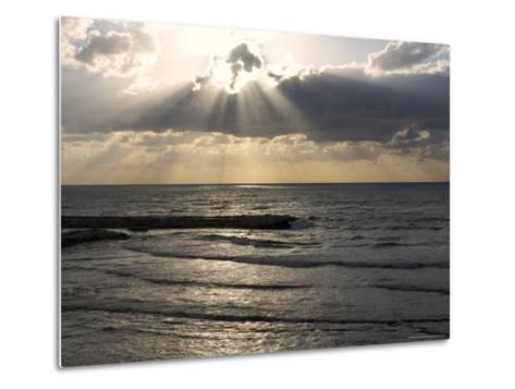 Sunset View Over Mediterranean, Tel Aviv, Israel--Metal Print