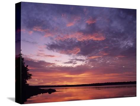 Sunrise Lights up the Sky Over Cobscook Bay-Stephen Alvarez-Stretched Canvas Print