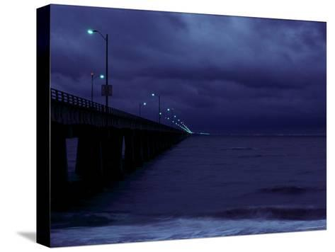 Night View of the Chesapeake Bay Bridge-Tunnel-Medford Taylor-Stretched Canvas Print
