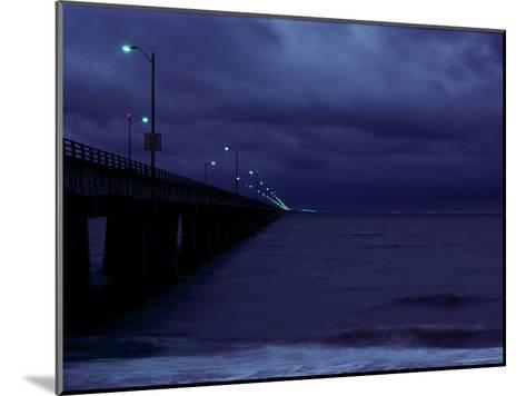Night View of the Chesapeake Bay Bridge-Tunnel-Medford Taylor-Mounted Photographic Print