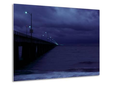 Night View of the Chesapeake Bay Bridge-Tunnel-Medford Taylor-Metal Print