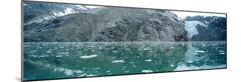 A Wide-Angle View of Glacier Bay in Alaska-Barry Tessman-Mounted Photographic Print