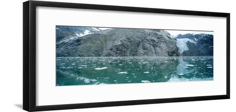 A Wide-Angle View of Glacier Bay in Alaska-Barry Tessman-Framed Art Print