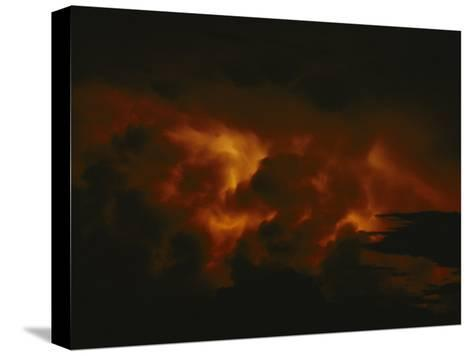 Storm Clouds over Lake Tanganyika--Stretched Canvas Print