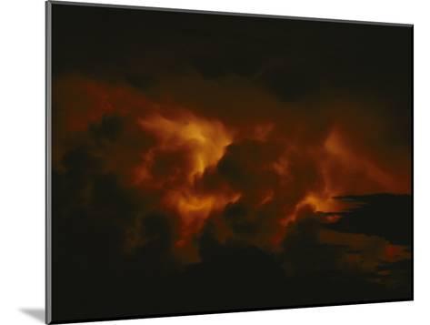 Storm Clouds over Lake Tanganyika--Mounted Photographic Print
