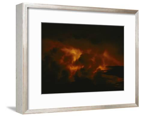 Storm Clouds over Lake Tanganyika--Framed Art Print