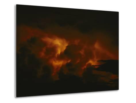 Storm Clouds over Lake Tanganyika--Metal Print