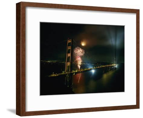 Golden Gate Bridge Celebration Marking the 50Th Anniversary of its Opening--Framed Art Print