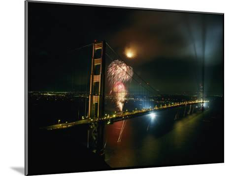 Golden Gate Bridge Celebration Marking the 50Th Anniversary of its Opening--Mounted Photographic Print