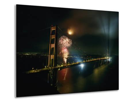 Golden Gate Bridge Celebration Marking the 50Th Anniversary of its Opening--Metal Print