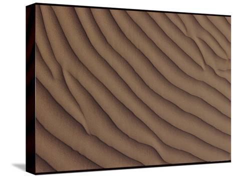 A Close-up of a Sand Dune, Showing a Rippling Effect Caused by the Wind-George F^ Mobley-Stretched Canvas Print