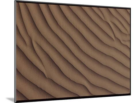 A Close-up of a Sand Dune, Showing a Rippling Effect Caused by the Wind-George F^ Mobley-Mounted Photographic Print