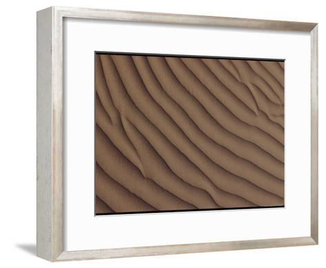 A Close-up of a Sand Dune, Showing a Rippling Effect Caused by the Wind-George F^ Mobley-Framed Art Print
