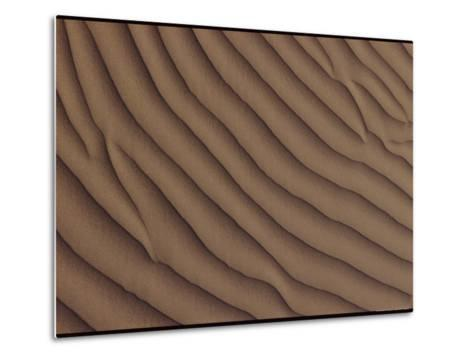 A Close-up of a Sand Dune, Showing a Rippling Effect Caused by the Wind-George F^ Mobley-Metal Print
