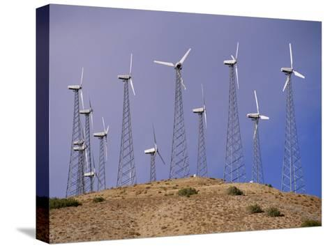 View of Windmills on a Wind Energy Farm-Marc Moritsch-Stretched Canvas Print
