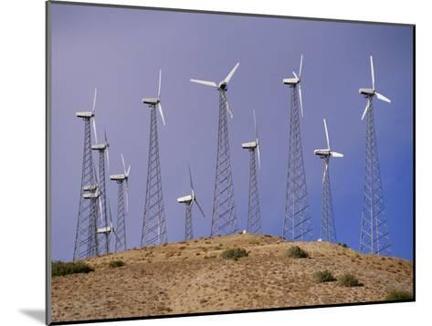 View of Windmills on a Wind Energy Farm-Marc Moritsch-Mounted Photographic Print