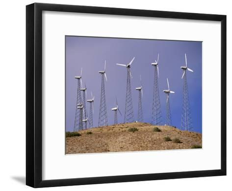 View of Windmills on a Wind Energy Farm-Marc Moritsch-Framed Art Print
