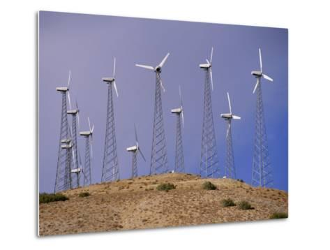 View of Windmills on a Wind Energy Farm-Marc Moritsch-Metal Print