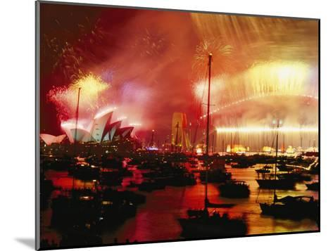 Sydney Harbour Explodes with Light and Sound During the 2000 New Years Celebration-Annie Griffiths-Mounted Photographic Print