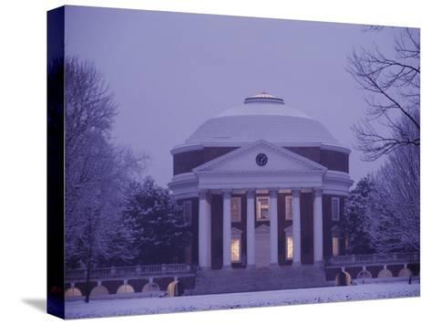 The Rotunda Lightly Covered in Snow--Stretched Canvas Print