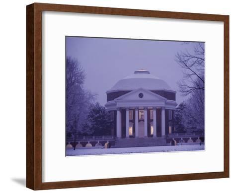 The Rotunda Lightly Covered in Snow--Framed Art Print