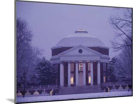 The Rotunda Lightly Covered in Snow--Mounted Photographic Print