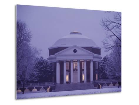 The Rotunda Lightly Covered in Snow--Metal Print