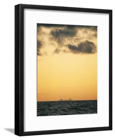 Distant View of Tubuai Island-Luis Marden-Framed Art Print