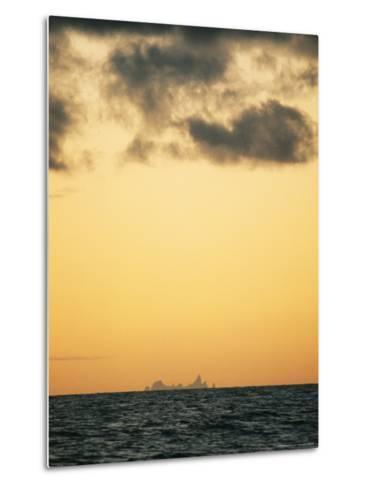 Distant View of Tubuai Island-Luis Marden-Metal Print