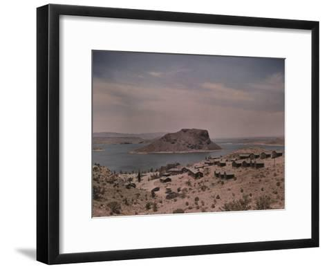 The Elephant Butte Reservoir was Formed as a Result of the Elephant Butte Dam Being Built-Luis Marden-Framed Art Print