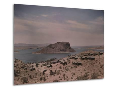 The Elephant Butte Reservoir was Formed as a Result of the Elephant Butte Dam Being Built-Luis Marden-Metal Print