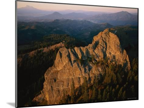 Aerial View of a Mountainside at Twilight-Melissa Farlow-Mounted Photographic Print